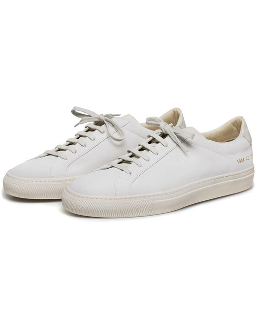 Common projects Achilles Suede Low-Top Sneakers in White for Men | Lyst