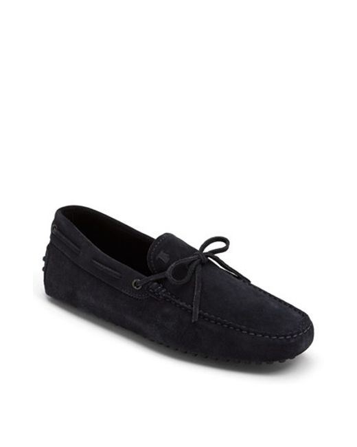 Tod's | Blue Gommini Tie Front Driving Moccasin for Men | Lyst
