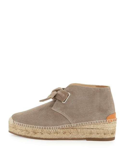 Rag Amp Bone Gena Suede Espadrille Bootie In Gray Warm Grey