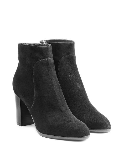 sergio suede ankle boots black in gray save 40
