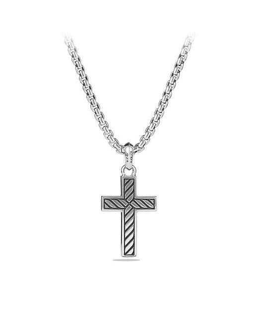 David Yurman | Metallic Exotic Stone Cross With Black Onyx for Men | Lyst