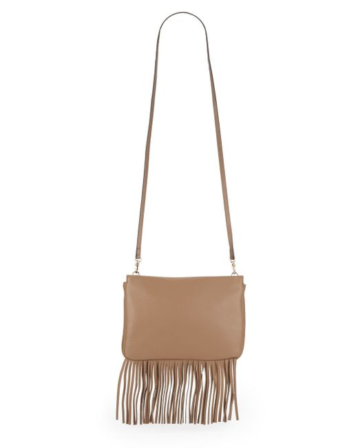 Vince Camuto | Natural Shira Fringed Leather Crossbody | Lyst