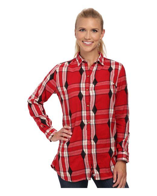 Woolrich | Red First Light Jacquard Shirt | Lyst