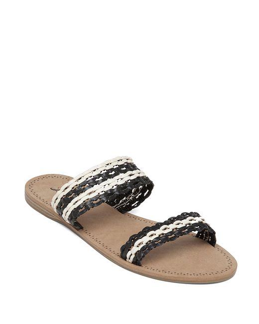 Lucky Brand | Blue Alddon Woven Slide Sandals | Lyst