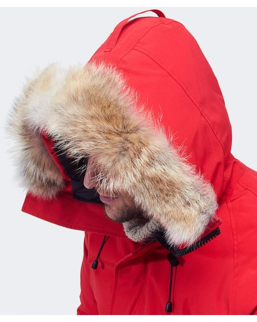 Canada Goose victoria parka online authentic - Canada goose Chateau Coyote-Trimmed Down-Filled Parka in Red for ...