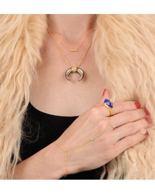 Jacquie Aiche   Metallic 1 Diamond Finger Bracelet   Lyst