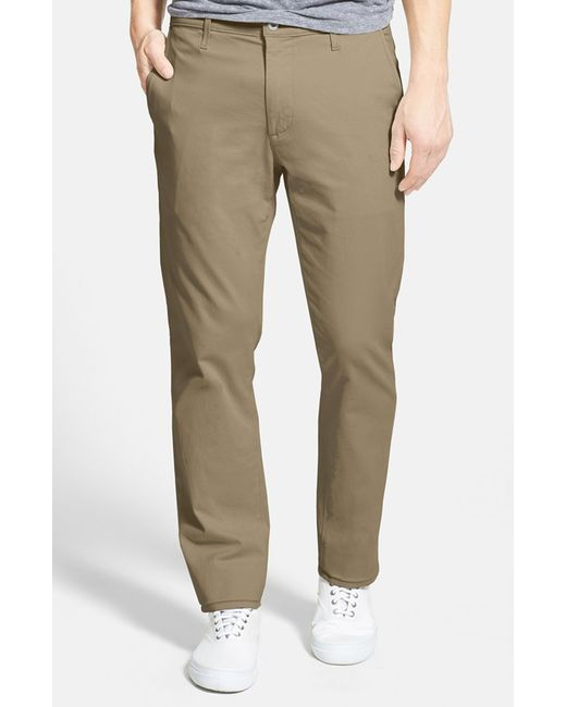 AG Jeans | Natural 'the Lux' Tailored Straight Leg Chinos for Men | Lyst