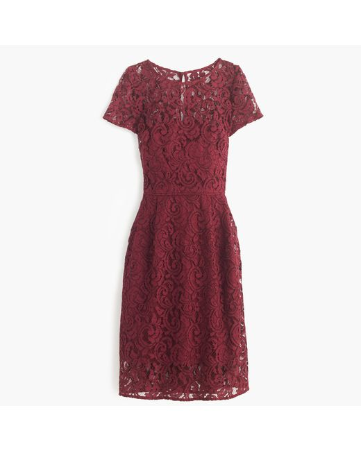 J.Crew | Purple Alisa Dress In Leavers Lace | Lyst