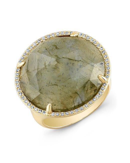 Anne Sisteron | Metallic 14kt Yellow Gold Labradorite Diamond Fancy Cocktail Ring | Lyst