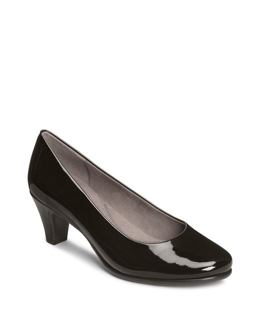 Aerosoles | Black Red Hot Faux Patent Leather Pumps | Lyst