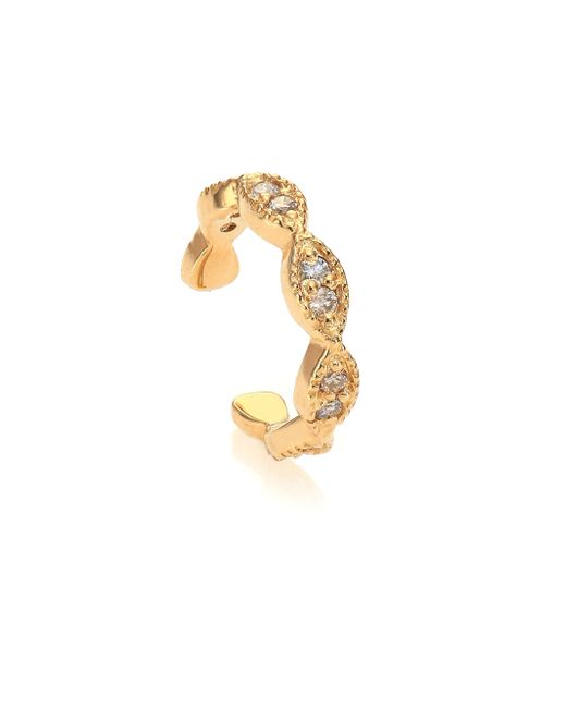 Jacquie Aiche | Metallic Diamond & 14k Yellow Gold Marquis Single Ear Band | Lyst