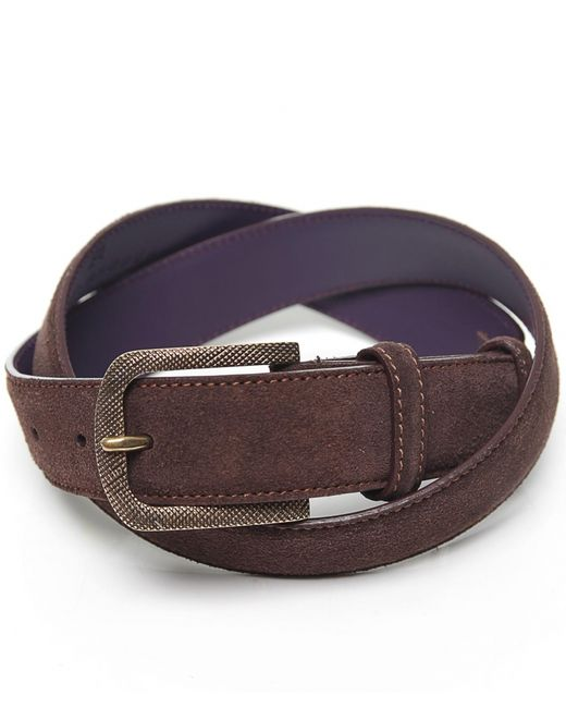 elliot suede belt in brown for lyst