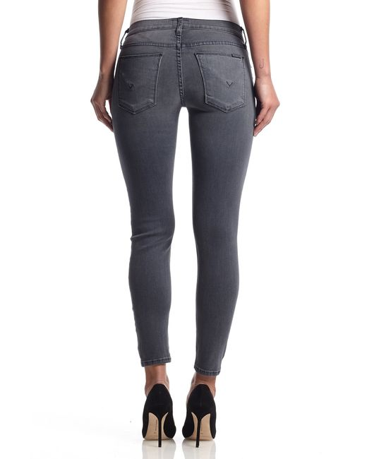 Hudson Jeans | Gray Krista Ankle Super Skinny | Lyst