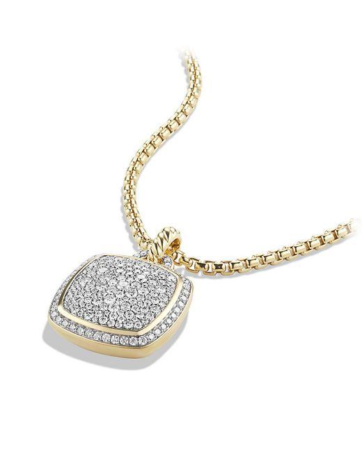 David Yurman | Metallic Pendant With Diamonds In 18k Gold | Lyst