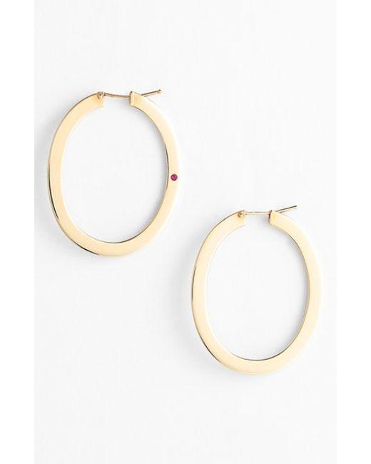 Roberto Coin | Pink Large Flat Hoop Earrings | Lyst