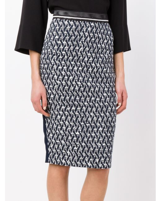 roland mouret pencil skirt in blue save 75 lyst