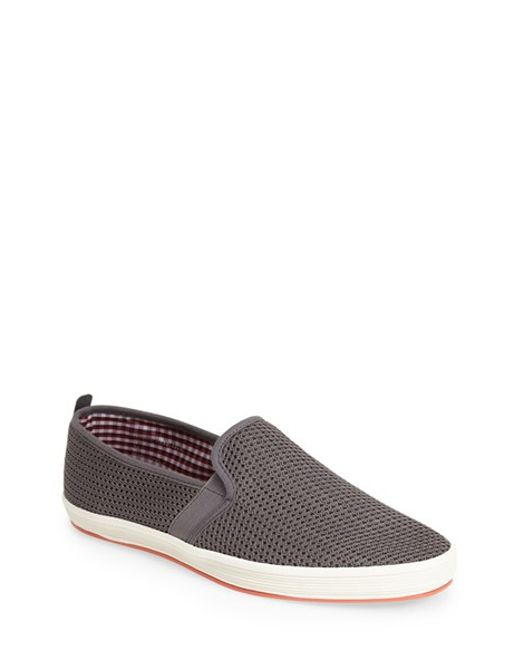 Fish n chips fish 39 n 39 chips 39 fry 2 39 mesh slip on in gray for Fish n chips shoes