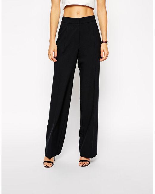 ASOS | Black Wide Leg Pants | Lyst