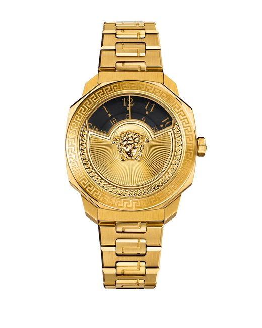 Versace Limited Edition Dylos Icon Goldtone Stainless ...