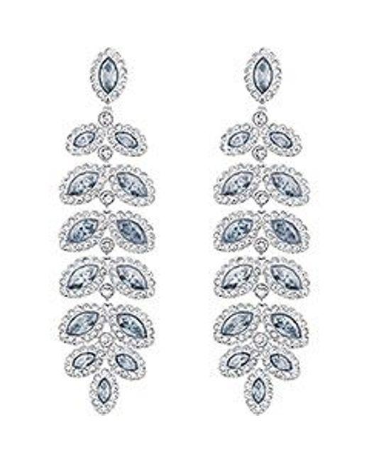 Swarovski | Blue Baron Pierced Earrings | Lyst