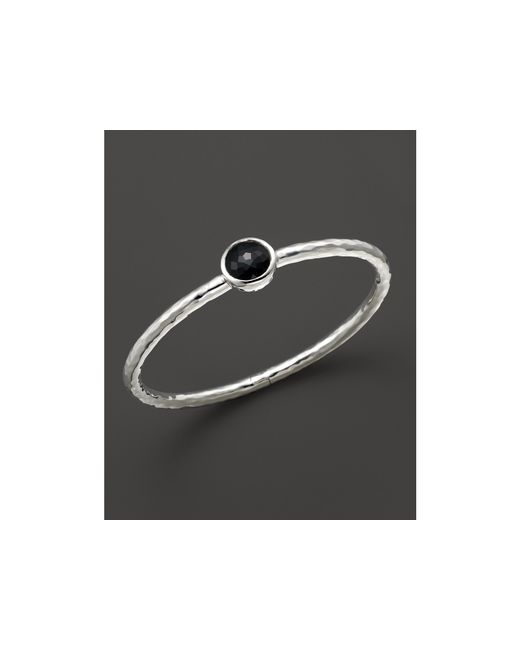 Ippolita | Sterling Silver Rock Candy Click Bangle In Black Onyx | Lyst