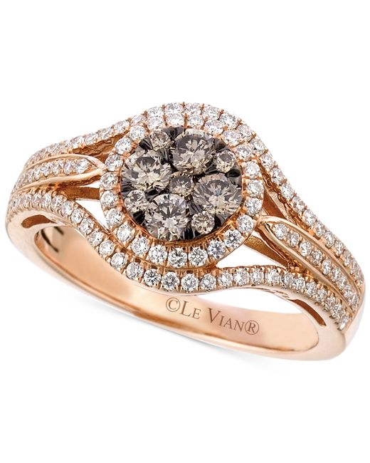 Le Vian | Pink Chocolatier® Diamond Ring (7/8 Ct. T.w.) In 14k Rose Gold | Lyst