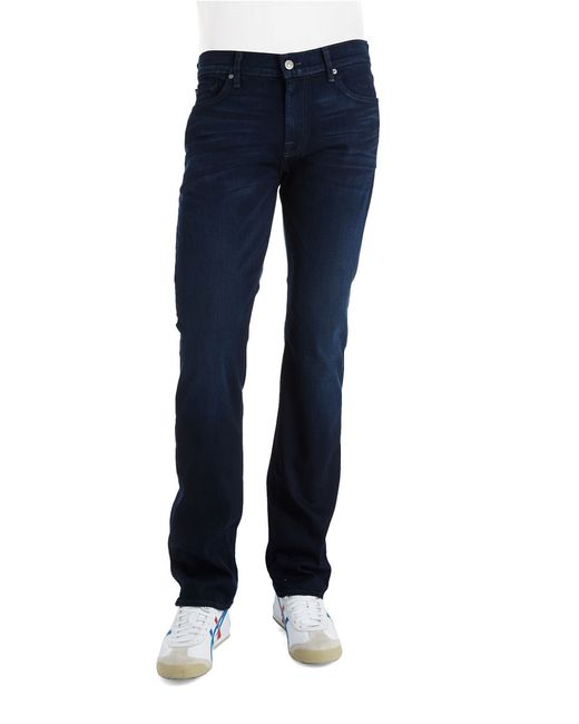 7 For All Mankind | Blue Slim Fit Jeans for Men | Lyst