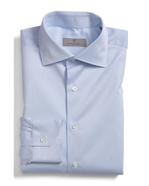 Canali | White Regular Fit Dobby Dress Shirt for Men | Lyst