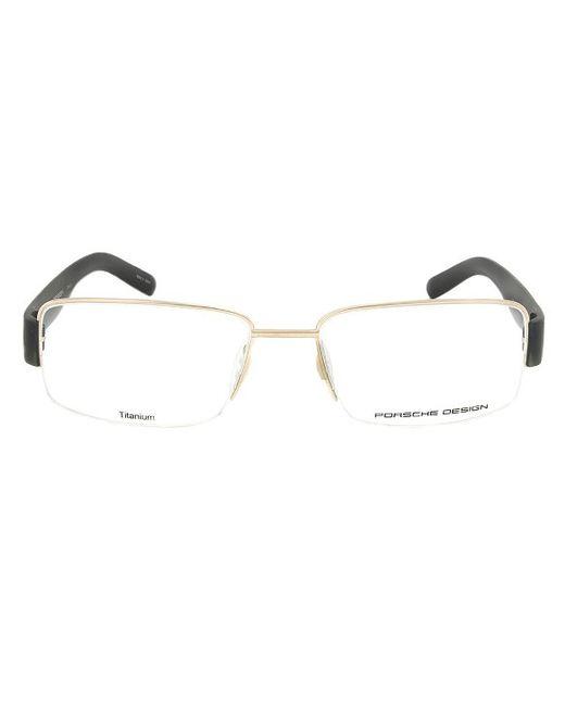 Eyeglass Frame Size 54 : Porsche design Design P8203 A Titanium Gold And Black ...