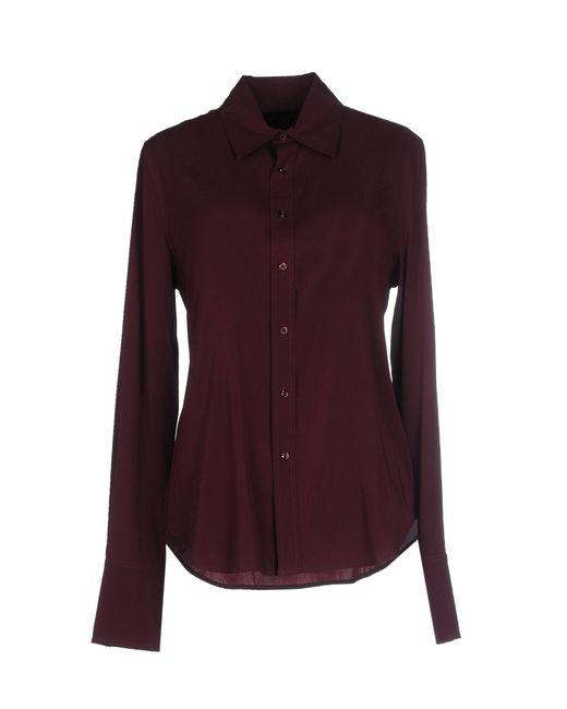 Ralph lauren black label shirt in purple maroon lyst for Black ralph lauren shirt purple horse