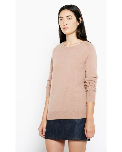 Equipment sloane crew neck cashmere sweater in natural lyst