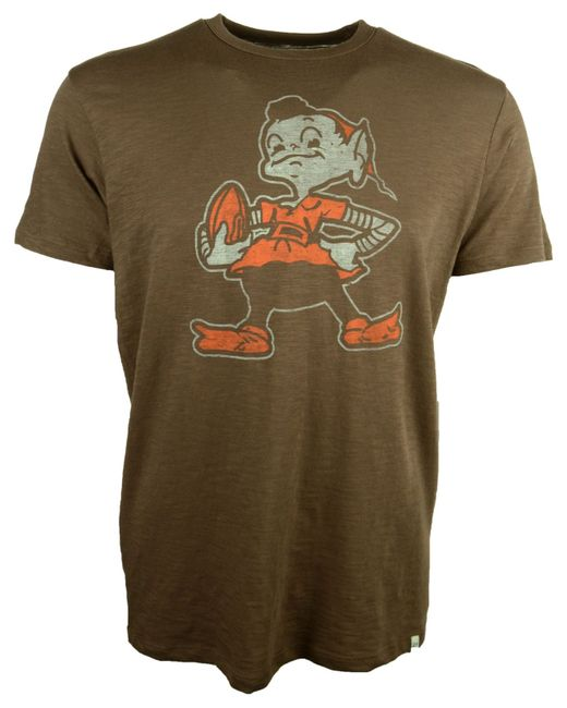 47 brand s cleveland browns retro logo scrum t shirt