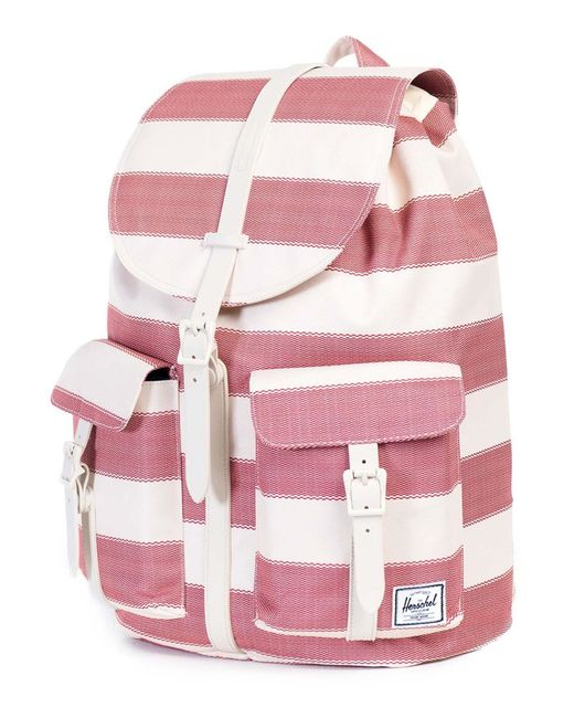 herschel supply co red beige striped dawson backpack 23 5 l in red beige save 21 lyst. Black Bedroom Furniture Sets. Home Design Ideas