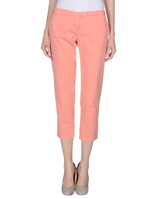 Armani Jeans | Pink Casual Pants | Lyst