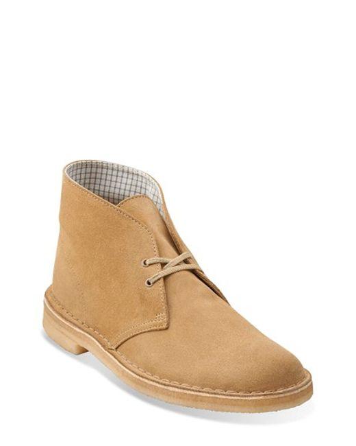 Clarks | Purple Clarks Originals 'desert' Boot for Men | Lyst
