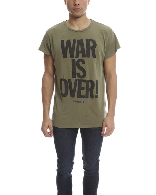 Madeworn rock Madeworn John Lennon War Is Over Army Tee in ...