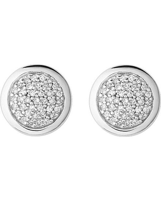 Links of London | Metallic Diamond Essentials Sterling Silver And Diamond Stud Earrings | Lyst