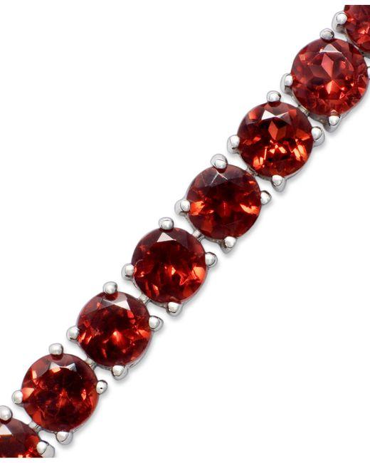 Macy's   Red Sterling Silver Bracelet, Garnet (20 Ct. T.w.)   Lyst