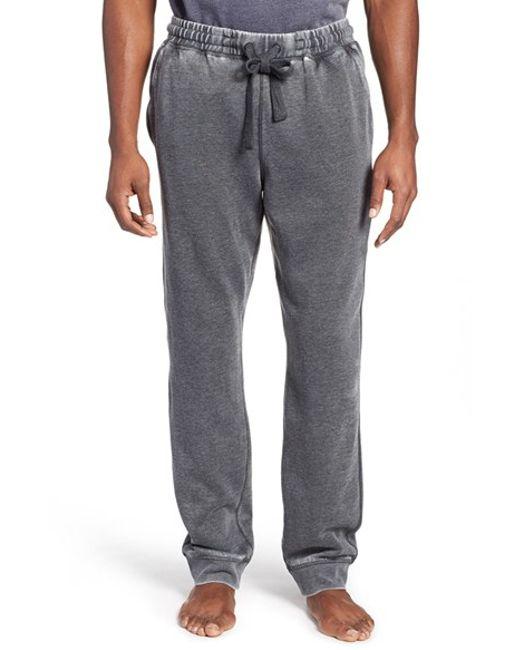Daniel Buchler | Black Washed Cotton Blend Lounge Pants for Men | Lyst