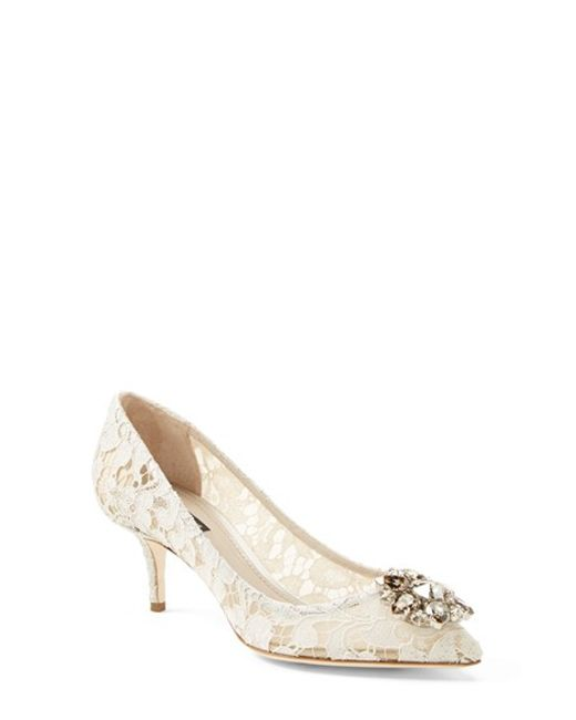 Dolce & Gabbana   White Pointy Toe Pump   Lyst