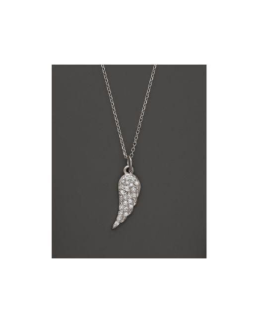 KC Designs | Diamond Wing Pendant Necklace In 14k White Gold, .07 Ct. T.w. | Lyst