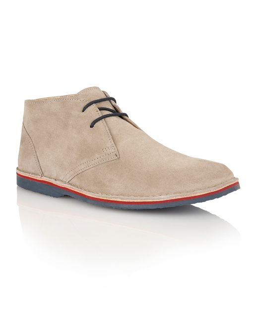 Lotus | Gray Wickford Lace Up Casual Desert Boots for Men | Lyst