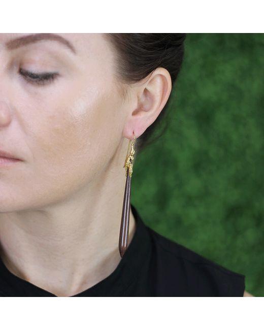 Lucifer Vir Honestus | Red Amaranth Wood Drop Earrings | Lyst