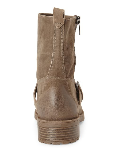 Nine West | Brown Taupe Hanzil Moto Boots | Lyst