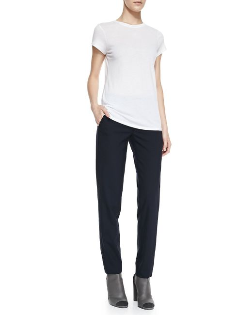 VINCE   Blue Side Strapping Pants   Lyst