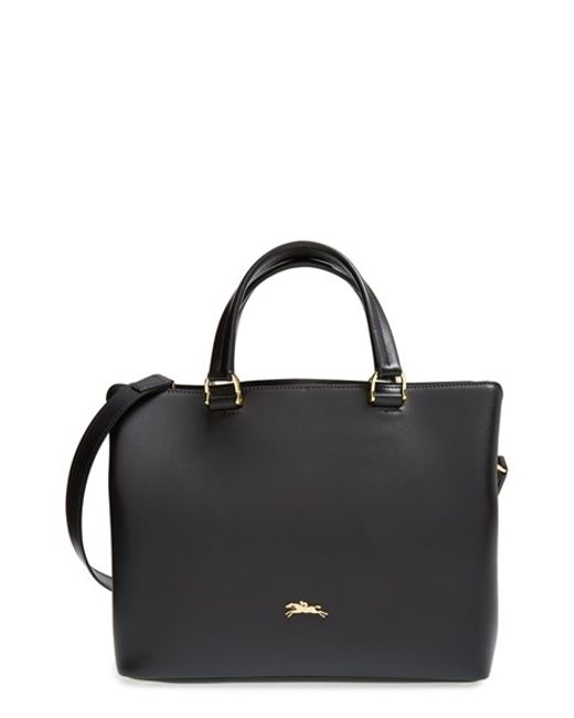Longchamp | Black 'medium Honore 404' Leather Tote | Lyst