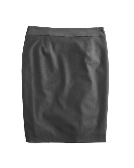 J.Crew   Natural Petite Pencil Skirt In Super 120s Wool   Lyst