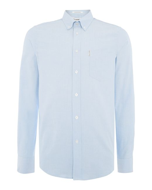 Ben Sherman | Blue Classic Oxford Long Sleeve Shirt for Men | Lyst