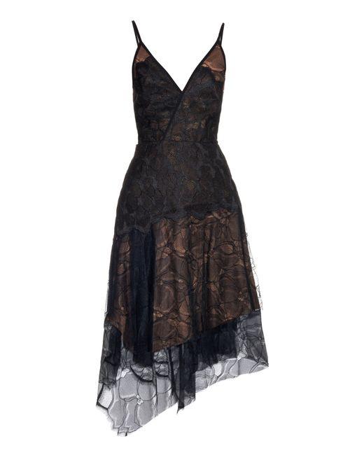 Camilla & Marc   Black Surface Asymmetric-hem Lace Dress   Lyst