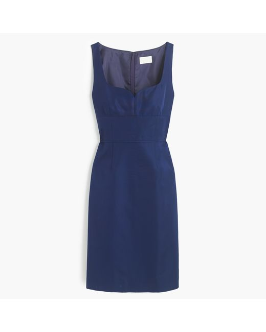 J.Crew | Blue Mae Dress In Classic Faille | Lyst